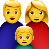 Family: Man, Woman, Boy Emoji on Apple macOS and iOS iPhones