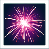 Feu d'artifice sur Apple macOS et iOS iPhones
