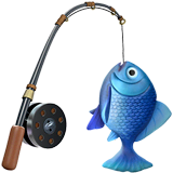 Fishing Pole Emoji on Apple macOS and iOS iPhones