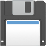 Floppy Disk Emoji on Apple macOS and iOS iPhones