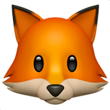 Fox Emoji on Apple macOS and iOS iPhones