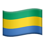 Flag: Gabon Emoji on Apple macOS and iOS iPhones