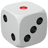 Game Die Emoji on Apple macOS and iOS iPhones