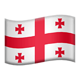 Flag: Georgia Emoji on Apple macOS and iOS iPhones