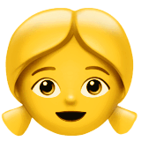 Girl Emoji on Apple macOS and iOS iPhones