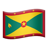Flag: Grenada Emoji on Apple macOS and iOS iPhones