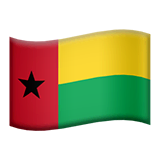 Flag: Guinea-Bissau Emoji on Apple macOS and iOS iPhones