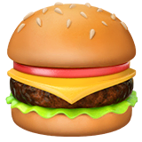 Hamburger Emoji on Apple macOS and iOS iPhones