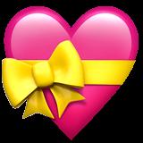 Corazón con lazo en Apple macOS y iOS iPhones