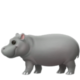 Hippopotamus Emoji on Apple macOS and iOS iPhones
