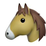 Horse Face Emoji on Apple macOS and iOS iPhones
