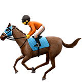 Horse Racing Emoji on Apple macOS and iOS iPhones