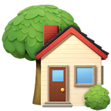 House With Garden Emoji on Apple macOS and iOS iPhones