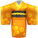 Kimono Emoji on Apple macOS and iOS iPhones