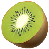 Kiwi Fruit Emoji on Apple macOS and iOS iPhones