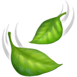 Leaf Fluttering in Wind Emoji on Apple macOS and iOS iPhones
