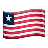 Flag: Liberia Emoji on Apple macOS and iOS iPhones