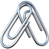 Linked Paperclips Emoji on Apple macOS and iOS iPhones