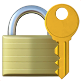 Locked With Key Emoji on Apple macOS and iOS iPhones