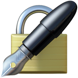 Locked With Pen Emoji on Apple macOS and iOS iPhones