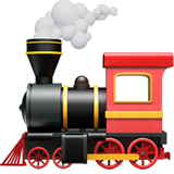 Locomotive Emoji on Apple macOS and iOS iPhones