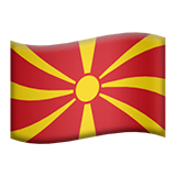 Flag: North Macedonia Emoji on Apple macOS and iOS iPhones