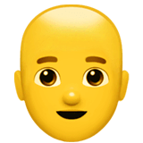 Man: Bald Emoji on Apple macOS and iOS iPhones