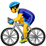 Man Biking Emoji on Apple macOS and iOS iPhones
