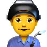 Man Factory Worker Emoji on Apple macOS and iOS iPhones