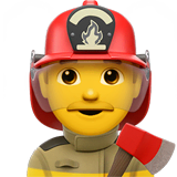 Man Firefighter Emoji on Apple macOS and iOS iPhones