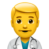 ️Man Health Worker Emoji on Apple macOS and iOS iPhones
