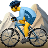 Man Mountain Biking Emoji on Apple macOS and iOS iPhones