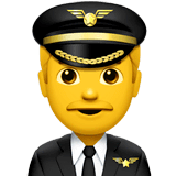 ️Man Pilot Emoji on Apple macOS and iOS iPhones