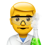 Man Scientist Emoji on Apple macOS and iOS iPhones