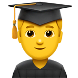 Man Student Emoji on Apple macOS and iOS iPhones