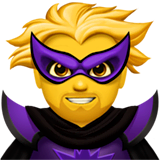 Man Supervillain Emoji on Apple macOS and iOS iPhones