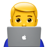 Man Technologist Emoji on Apple macOS and iOS iPhones