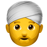 Homem com turbante nos iOS iPhones e macOS da Apple