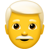 Man: White Hair Emoji on Apple macOS and iOS iPhones
