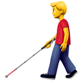 Man With White Cane Emoji on Apple macOS and iOS iPhones