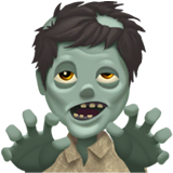 Man Zombie Emoji on Apple macOS and iOS iPhones