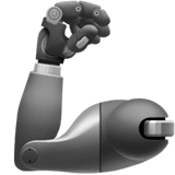 Mechanical Arm Emoji on Apple macOS and iOS iPhones