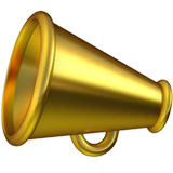 Megaphone Emoji on Apple macOS and iOS iPhones