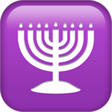 Menorah sur Apple macOS et iOS iPhones