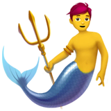 Merman Emoji on Apple macOS and iOS iPhones