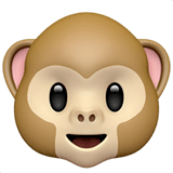 Monkey Face Emoji on Apple macOS and iOS iPhones