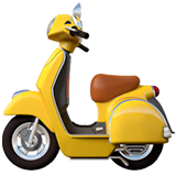 Motor Scooter Emoji on Apple macOS and iOS iPhones