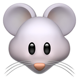 Mouse Face Emoji on Apple macOS and iOS iPhones