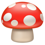 Mushroom Emoji on Apple macOS and iOS iPhones