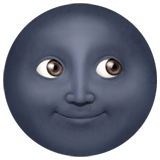 New Moon Face Emoji on Apple macOS and iOS iPhones